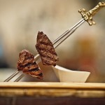 Alambre de Filete- filet mignon skewer, cabrales sauce (Photo Credit: Noah Fecks)