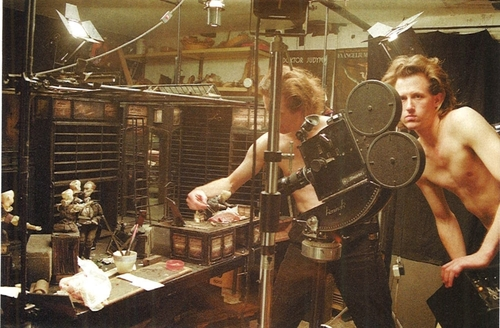 The Quay brothers in the studio. Photo courtesy of the Quay Brothers