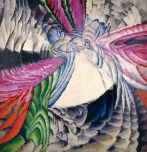 "František Kupka. Localization of Graphic Motifs II. 1912–13. Oil on canvas, 78 3/4 x 76 3/8"" (200 x 194 cm), frame: 78 3/4 x 76 3/8"" (200 x 194 cm). National Gallery of Art, Washington, D.C., Ailsa Mellon Bruce Fund and Gift of Jan and Meda Mladek. Image courtesy of the National Gallery of Art, Washington. © 2012 Artists Rights Society (ARS), New York/ADAGP, Paris"