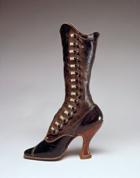 Jack Jacobus, Ltd., boot, leather, circa 1900, Austria, gift of Victoria and Albert Museum.