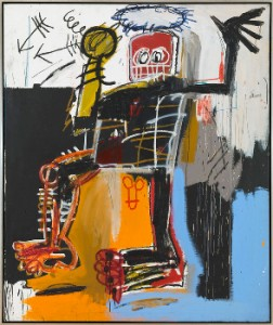 JEAN-MICHEL BASQUIAT Untitled, 1981 Acrylic, oil stick and pencil on canvas 72 x 60 inches  (182.9 x 152.4 cm) © The Estate of Jean-Michel Basquiat/ADAGP, Paris, ARS, New York 2013