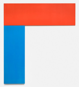 Ellsworth Kelly. Chatham VI: Red Blue, 1971. Oil on canvas, two joined panels, 114 1/2 x 102 1/4 inches (290.8 x 259.7 cm). The Museum of Modern Art. Gift of Douglas S. Cramer Foundation, 1998. © 2013 Ellsworth Kelly