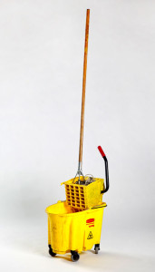 The Bruce High Quality Foundation. Con te Partiro, 2009. Bucket, mop, soundtrack, 72 x 12 x 18 in. (182.9 x 30.5 x 45.7 cm). Private collection. Photograph courtesy of the Foundation
