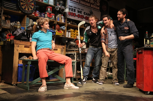 Small Engine Repair MCC - Lortel Theatre by John Pollono directed by Jo Bonney with Keegan Allen, James Badge Dale, John Pollono, James Ransone