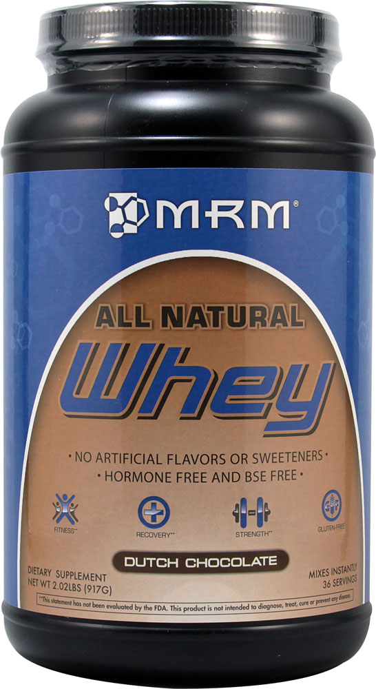 MRM All Natural Whey Protein Powder Dutch Chocolate